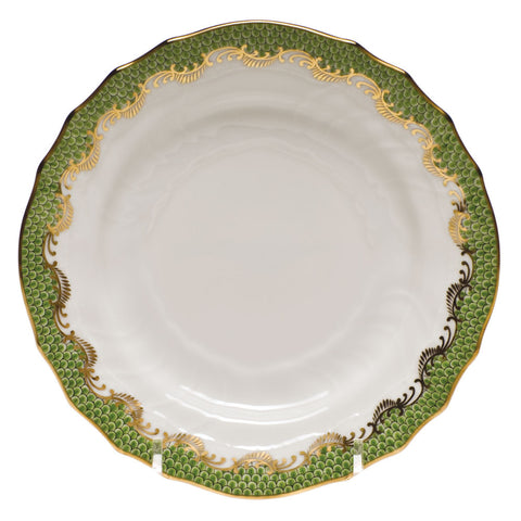 Fish Scale Bread & Butter Plate Evergreen