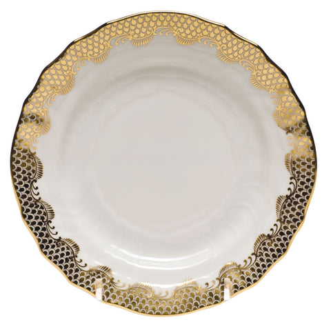 Fish Scale Bread & Butter Plate Gold