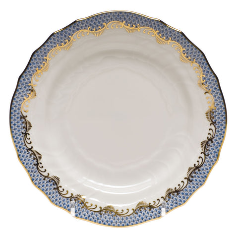 Fish Scale Bread & Butter Plate Light Blue