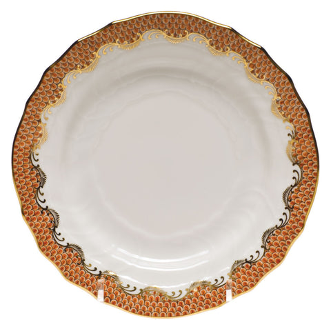 Fish Scale Bread & Butter Plate Rust