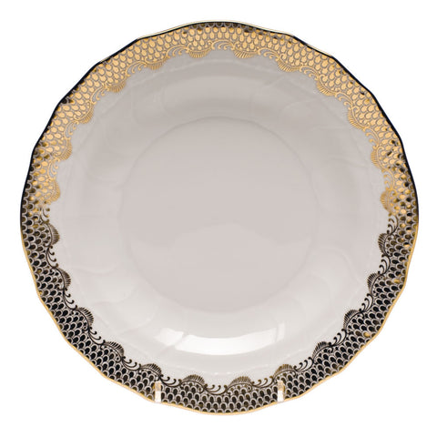 Fish Scale Dessert Plate Gold