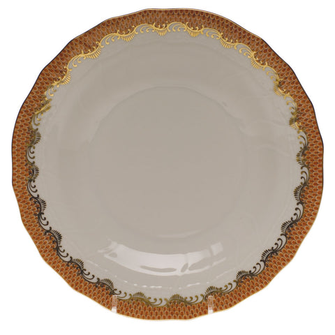 Fish Scale Dessert Plate Rust