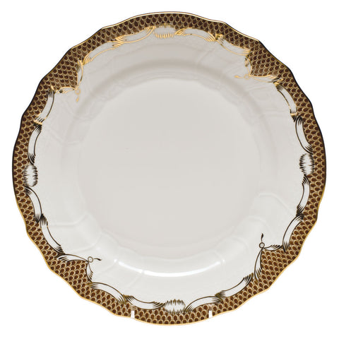 Fish Scale Dinner Plate Brown