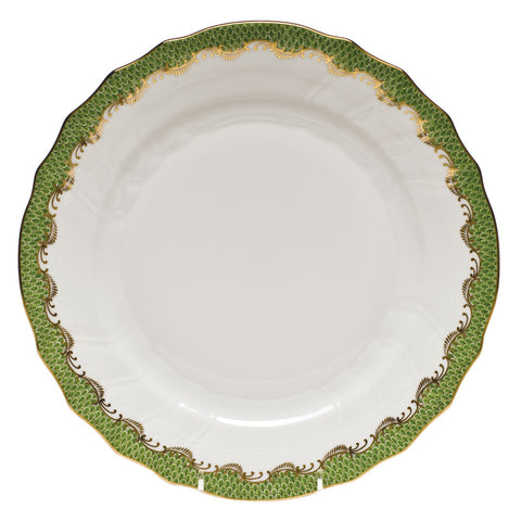 Fish Scale Dinner Plate Evergreen