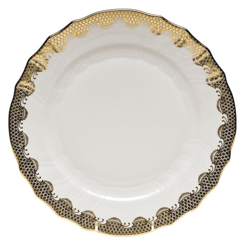 Fish Scale Dinner Plate Gold