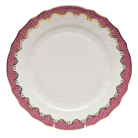Fish Scale Dinner Plate Raspberry