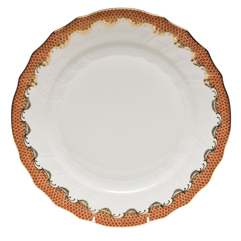 Fish Scale Dinner Plate Rust