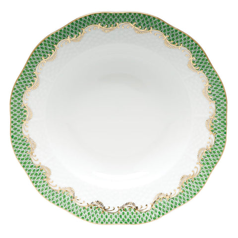 Fish Scale Rim Soup Plate Jade