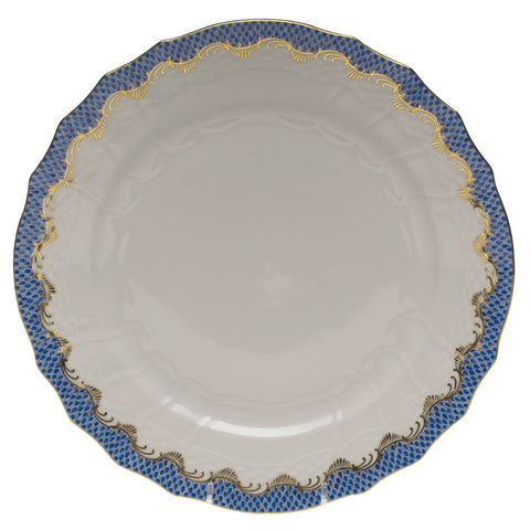 Fish Scale Service Plate Blue
