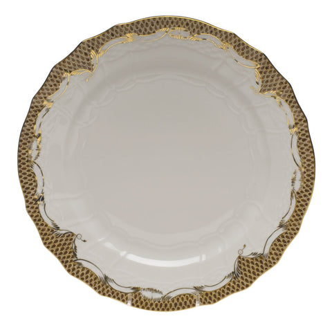 Fish Scale Service Plate Brown