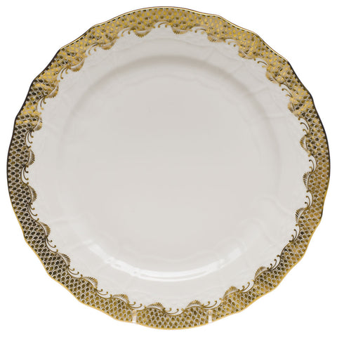 Fish Scale Service Plate Gold