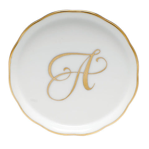 Gold Monogram Coaster
