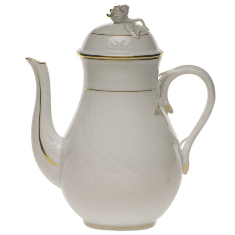Golden Edge Coffee Pot w/ Rose