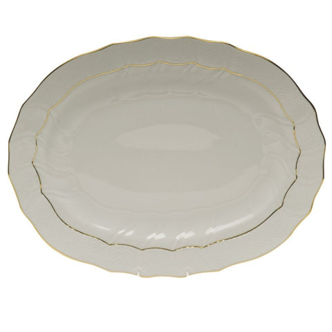 Golden Edge Oval Platter Large