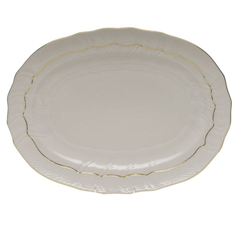 Golden Edge Oval Platter Medium