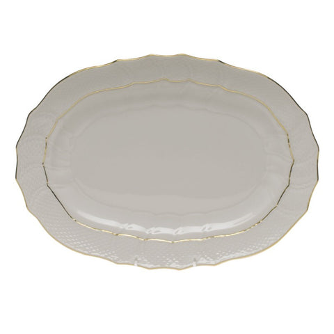Golden Edge Oval Platter Small