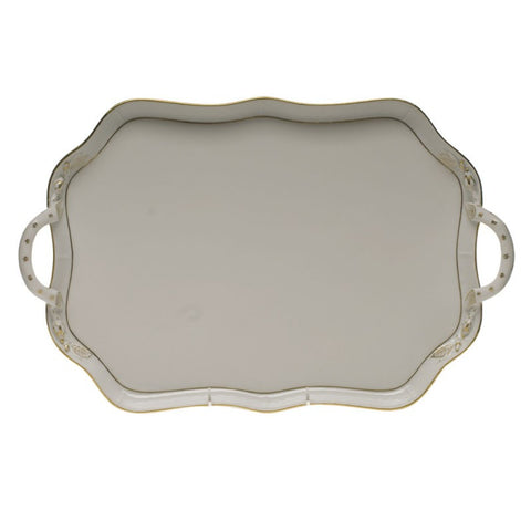 Golden Edge Rectangular Tray w/ Branches