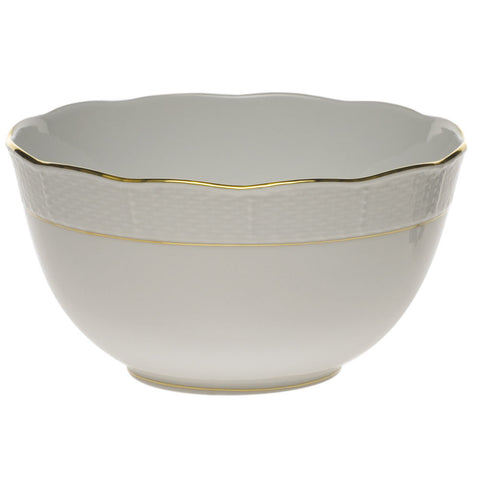 Golden Edge Round Bowl