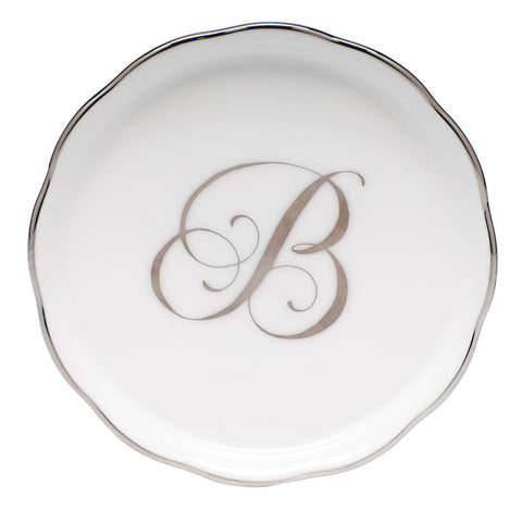 Platinum Monogram Coaster