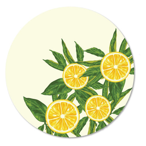 Yellow Lemons Placemat, Set of 4