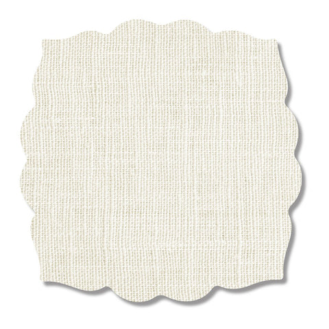 Ivory Linen Print Placemat, Set of 4
