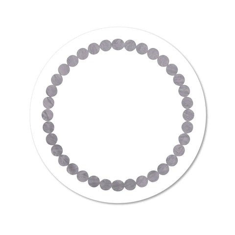 White & Grey Pearl Print Placemat, Set of 4