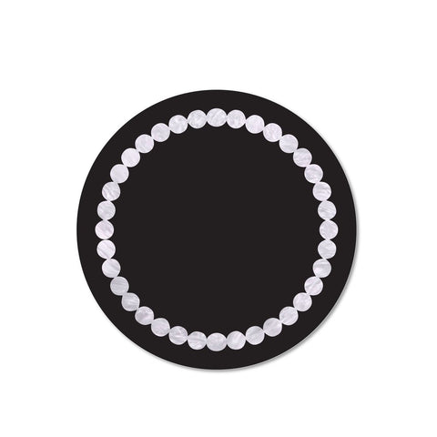 Black & White Pearl Print Placemat, Set of 4