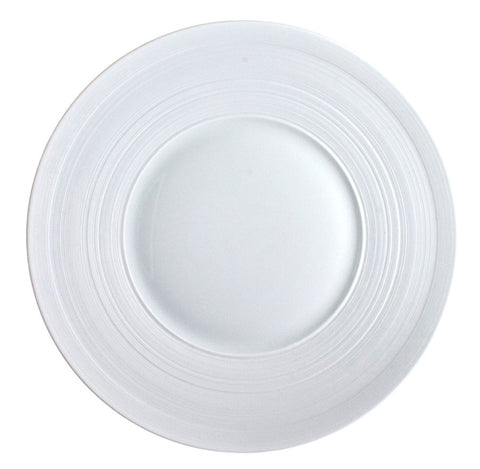Hemisphere White Dinner Plate