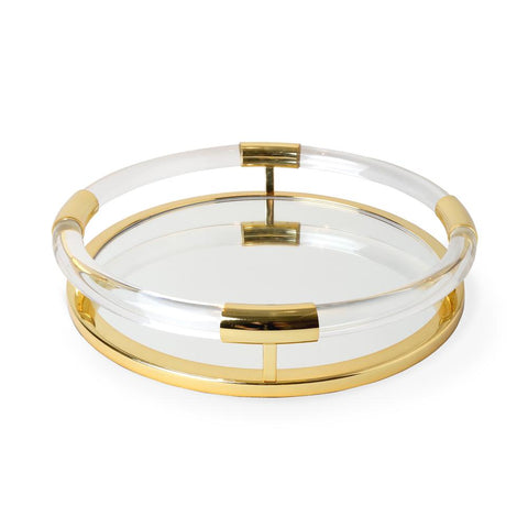 Round Jacques Tray Brass