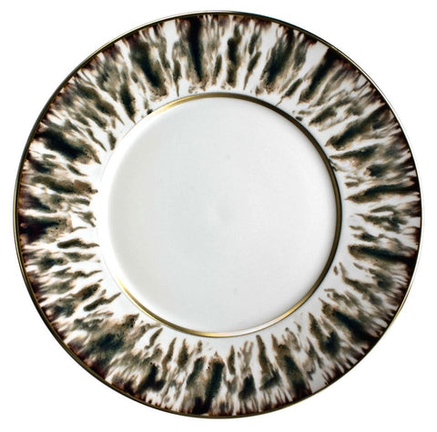 Cream Scale Gold Finition Dinner Plate