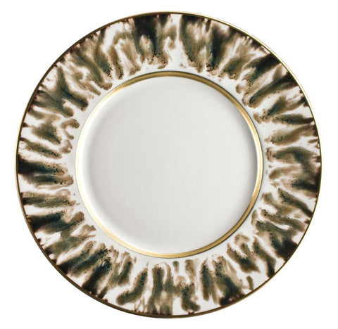 Cream Scale Gold Finition Salad/Dessert Plate