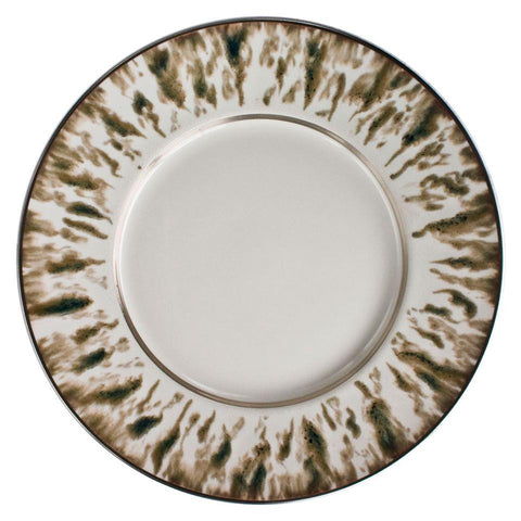 Cream Scale Platinum Finition Dinner Plate