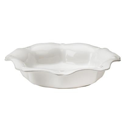 Berry & Thread Whitewash Scallop Pasta/ Soup Bowl