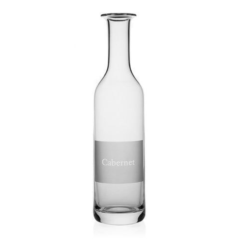 Labelled Wine Carafe - Cabernet