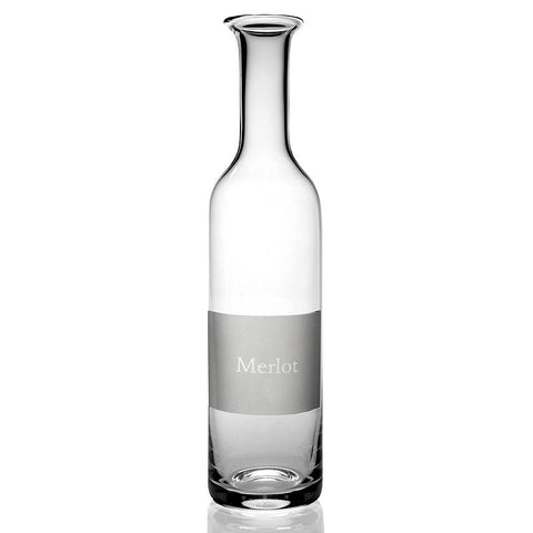 Labelled Wine Carafe - Merlot