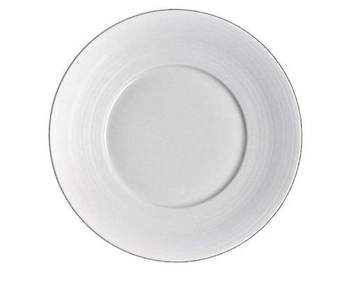 Hemisphere White Dinner Plate Large Center