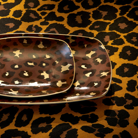 Leopard Rectangular Tray Medium