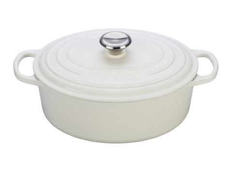 White Signature Oval Dutch Oven