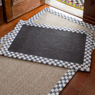 Courtly Check Black Sisal Rug 2'x 3'