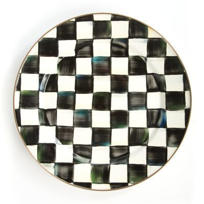Courtly Check Enamel Charger/ Plate