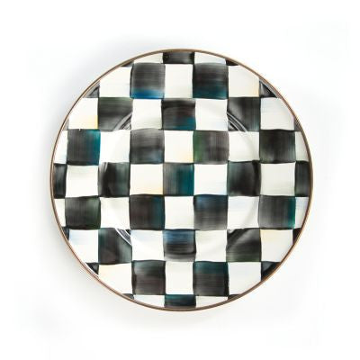 Courtly Check Enamel Salad/ Dessert Plate