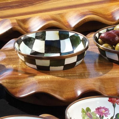 Courtly Check Enamel Relish Dish