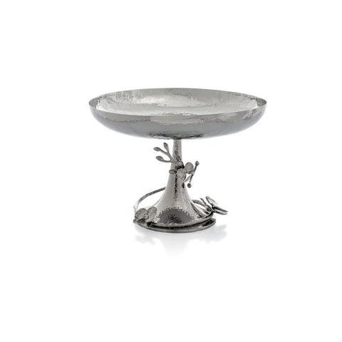 White Orchid Footed Centerpiece Bowl