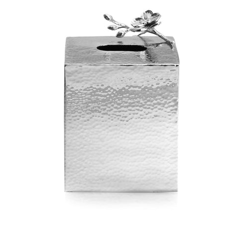 White Orchid Tissue Box