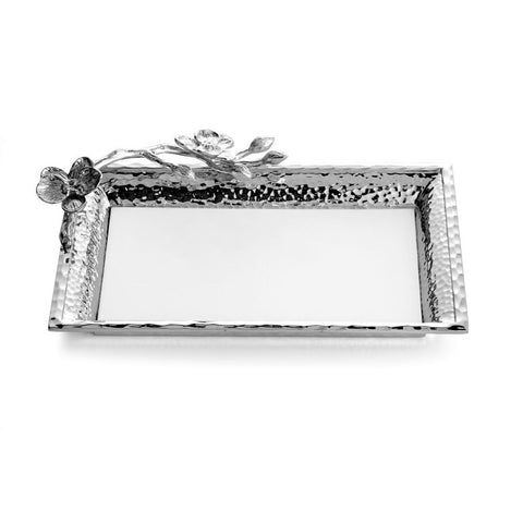 White Orchid Vanity Tray Small