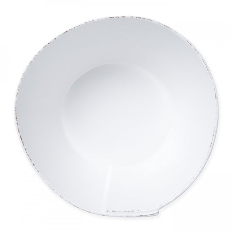Lastra White Melamine Large Stacking Serving Bowl
