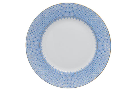 Cornflower Blue Lace Dinner Plate
