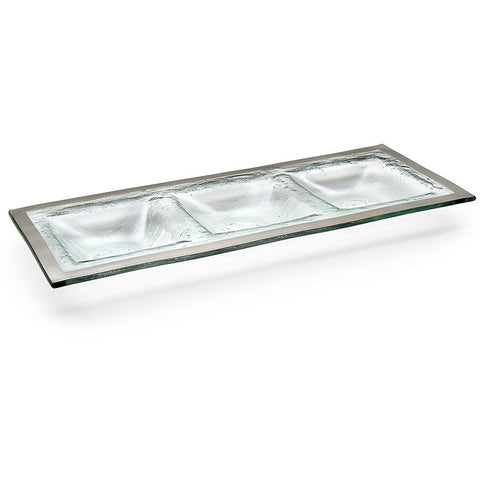 Roman Antique Three Section Tray