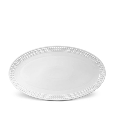 Perlée White Oval Platter Large