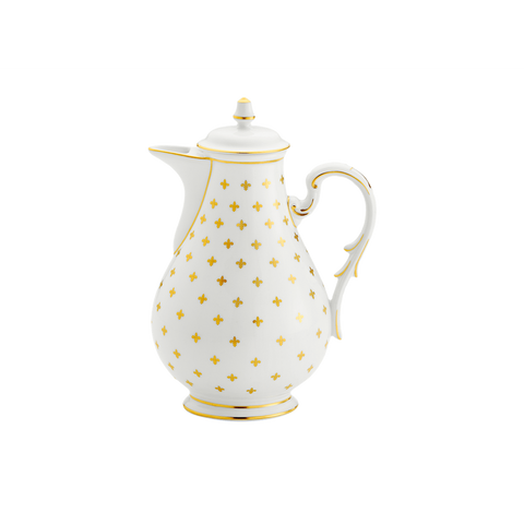Gigli White Coffee Pot w/ Cover